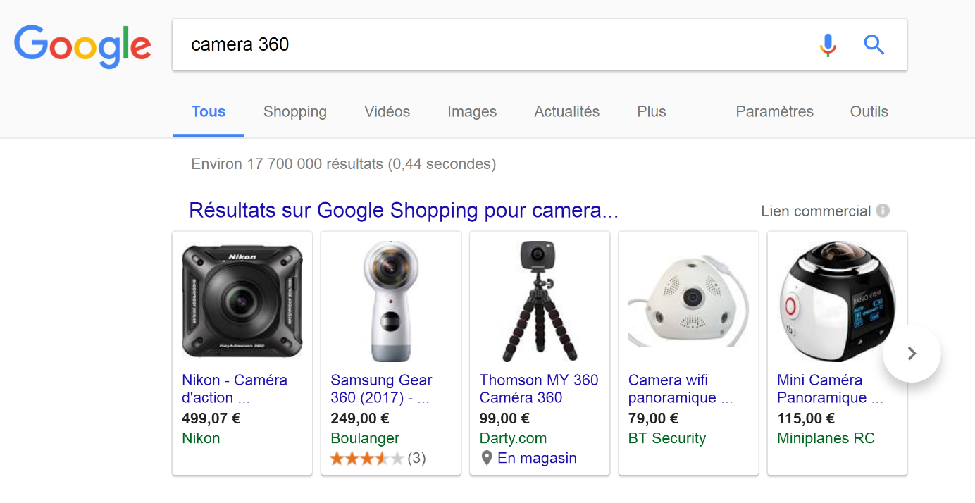 Nikon-Google-Shopping-Keyade